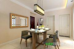 华强城美加印象两室两厅91平现代风格装修效果图现代餐厅装修图片
