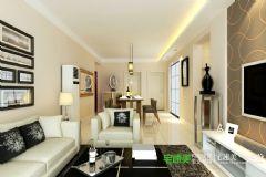 华强城美加印象两室两厅91平现代风格装修效果图现代风格小户型