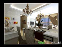 张家山领秀城两室两厅92平简欧风格装修效果图简约客厅装修图片