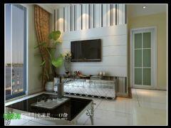张家山领秀城两室两厅78平现代风格现代客厅装修图片