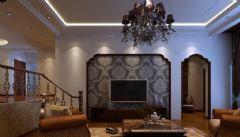 富腾家天下欧式客厅装修图片
