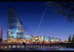 一组提升审美境界的夜景城市综合体效果图商场装修图片