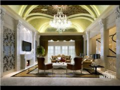 成都尚层装饰别墅装修保利心语800平新古典装修案例欣赏