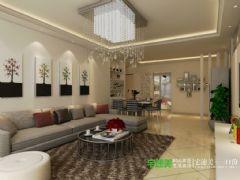 地大橡树园两室两厅90平现代风格装修效果图现代风格小户型