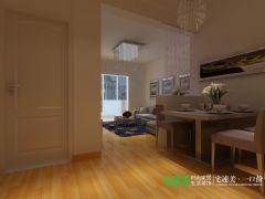 柏庄跨界两室两厅89平现代风格装修效果图现代客厅装修图片