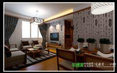 华强广场三室两厅113平中式风格装修效果图中式风格三居室