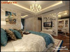 【龙发装饰】世茂龙湾欧式卧室装修图片