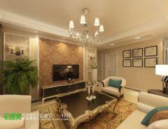 金色水岸三室两厅98平现代风格现代风格小户型