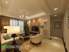 金色水岸三室两厅98平现代风格现代过道装修图片