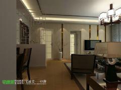 国贸天琴湾两室两厅107平新中式风格中式餐厅装修图片