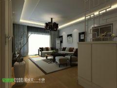 国贸天琴湾两室两厅107平新中式风格中式其它装修图片