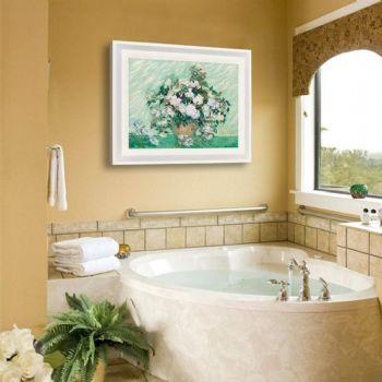 卫生间植物摆放搭配方案田园卫生间装修图片