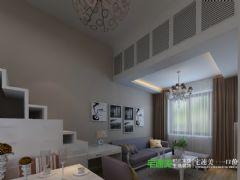 华强城颐景湾畔复式三室两厅110平现代风格装修效果图现代风格复式