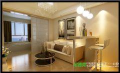 绿地镜湖世纪城两室两厅88平现代风格装修效果图现代客厅装修图片