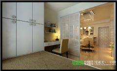 绿地镜湖世纪城两室两厅88平现代风格装修效果图现代风格小户型