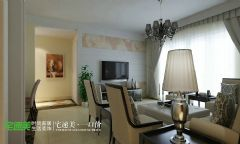 龙湖湾三室两厅89平简约风格现代餐厅装修图片