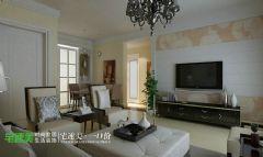 龙湖湾三室两厅89平简约风格现代客厅装修图片