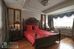 武汉装修公司-武汉装修实景样板间美式卧室装修图片