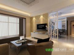 华强城美加印象三室两厅121平现代风格装修效果图现代客厅装修图片
