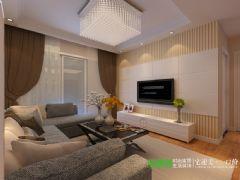 长江之歌两室两厅97平现代风格装修效果图现代风格小户型
