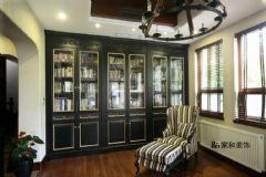 成都家和装饰装修案例-麓山国际美式书房装修图片