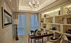 成都家和装饰装修案例-东苑锦江畔欧式书房装修图片
