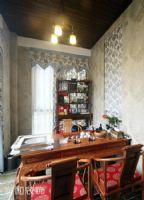 成都家和装饰装修案例-斑竹欣苑美式书房装修图片