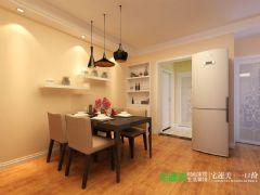 信达荷塘月色三室两厅89平现代简约风格装修效果图现代风格小户型