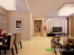 华强城美加印象三室两厅119平现代简约风格装修效果图现代简约客厅装修图片