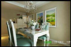 兆通大观花园三室两厅135平欧式风格欧式餐厅装修图片