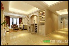 兆通大观花园三室两厅135平欧式风格欧式客厅装修图片