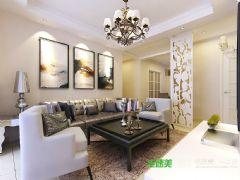 细节的处理决定装修的美观实用——华强广场三室两厅131平欧式风格装修效果图欧式客厅装修图片