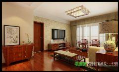鸿瑞熙龙湾142平四室两厅新中式风格中式过道装修图片