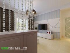地大橡树园两室两厅98平简约风格现代过道装修图片