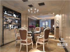 成都尚层装饰别墅装修城南一号现代简约风格案例欣赏(二)现代餐厅装修图片