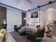金色水岸两室两厅78平现代简约风格现代风格小户型