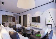 金色水岸两室两厅78平现代简约风格现代客厅装修图片