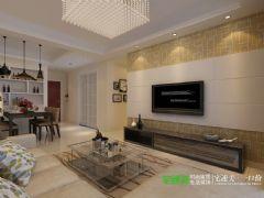 简单不简约——金都檀宫三室两厅108平现代风格装修效果图现代风格小户型