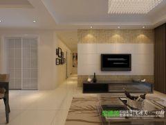 简单不简约——金都檀宫三室两厅108平现代风格装修效果图现代客厅装修图片