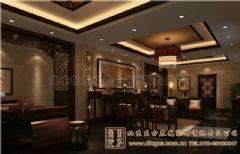 广元四合院设计室内设计雅韵深深中式客厅装修图片
