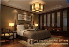 广元四合院设计室内设计雅韵深深中式卧室装修图片