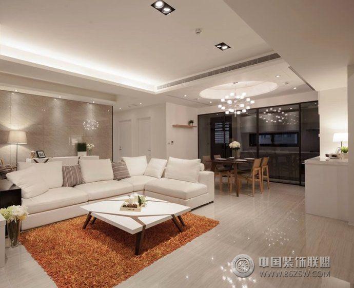 暖色调客厅设计-客厅装修效果图-八六(中国)装饰联盟