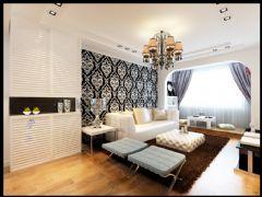 金质融城现代风格二居室