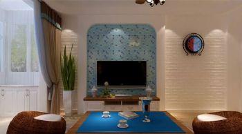 60平一居地中海风地中海餐厅装修图片