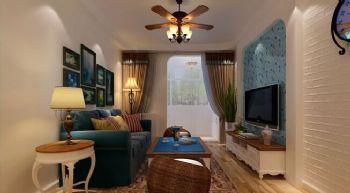 60平一居地中海风地中海客厅装修图片