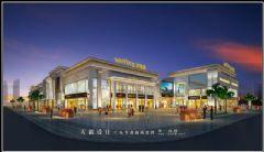 城市综合体效果图:做城市综合体效果图流线设计应结合空间整体布局来设置商场装修图片