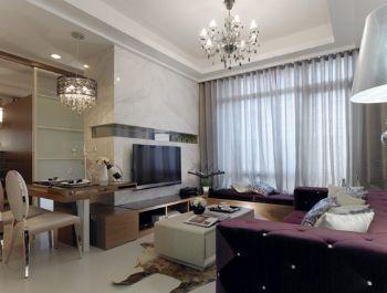 55平现代简约风现代客厅装修图片