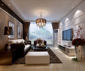 130平三居现代风格案例现代客厅装修图片