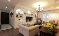 【淮南博大装饰】浪漫在心间,来自金地月半弯90平美式婚房设计美式客厅装修图片