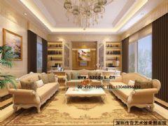 深圳效果图设计现代客厅装修图片